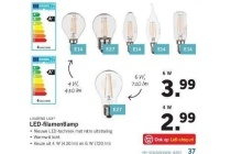 livarno lux led filamentlamp