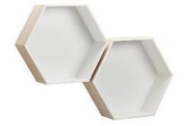 wandvak hexagon