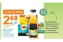 lipton leaf tea en pure leaf