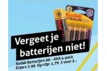 kodak batterijen aa aaa 4 pack