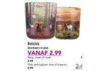 bolsius geurkaars in glas