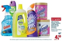 alle vanish finish dettol cillit bang glassex of airwick