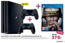 ps4 1tb pro call of duty wwii extra ps4 dualshock controller v2