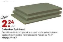 ondervloer zachtboard