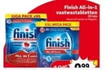 finish all in 1 vaatwastabletten