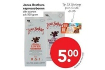 jones brothers espressobonen