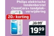 philips elektrische tandenborstel cleancare tandplakverwijdering