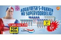 aquafresh 5 pakken nu supervoordelig
