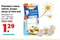 president creme chevre burger slices of mini brie