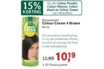 alle colour powder colour mousse colour boost en colour cream van hennaplus