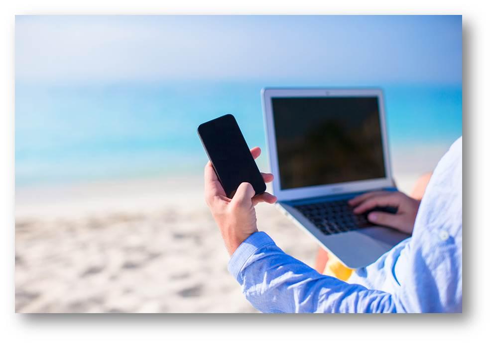 ondernemer-strand-vakantie