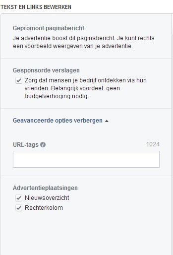 gesponsord verslag facebook