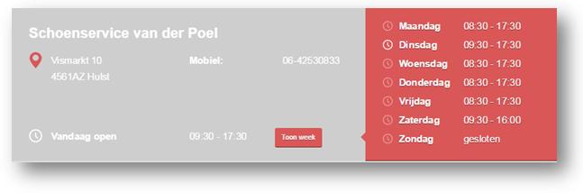 Ook Schoenmaker van der Poel maakte een eigen website aan in enkele stappen.