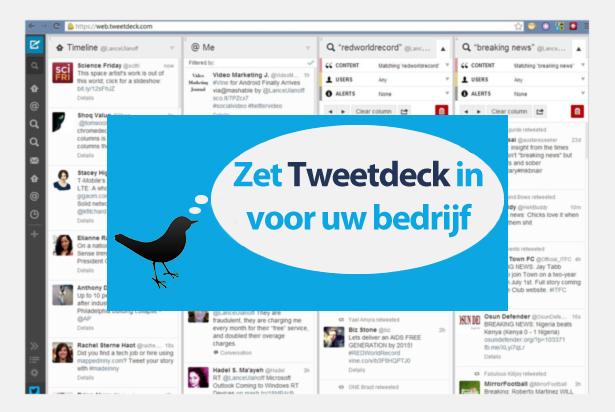 Twitter makkelijk beheren met TweetDeck