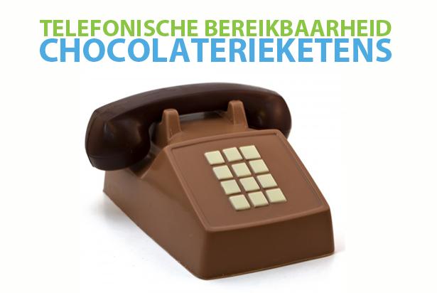 De telefonische bereikbaarheid van chocolaterieketens