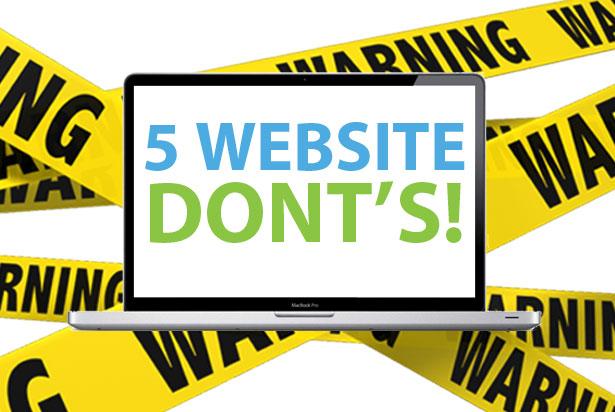 5 Website don'ts: voorkom conversiekillers