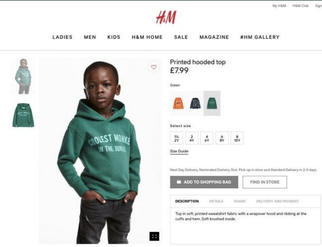 H&M biedt excuses aan voor controversiële pr-blunder