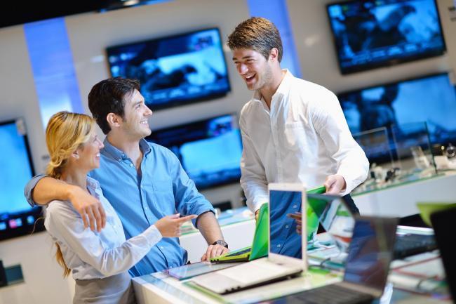 Telefonische bereikbaarheid elektronica winkels