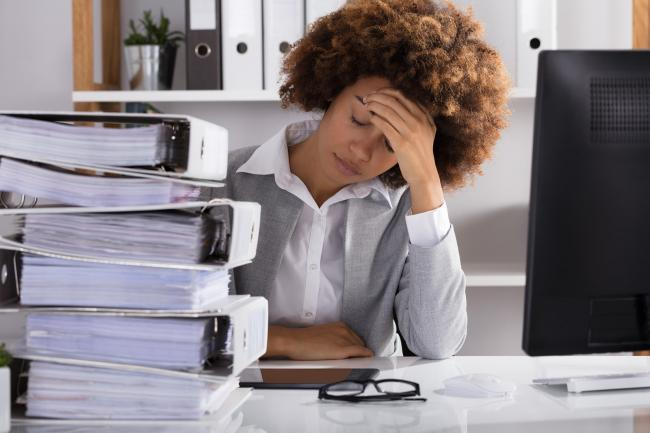 Veel werknemers hebben last van een te hoge werkdruk