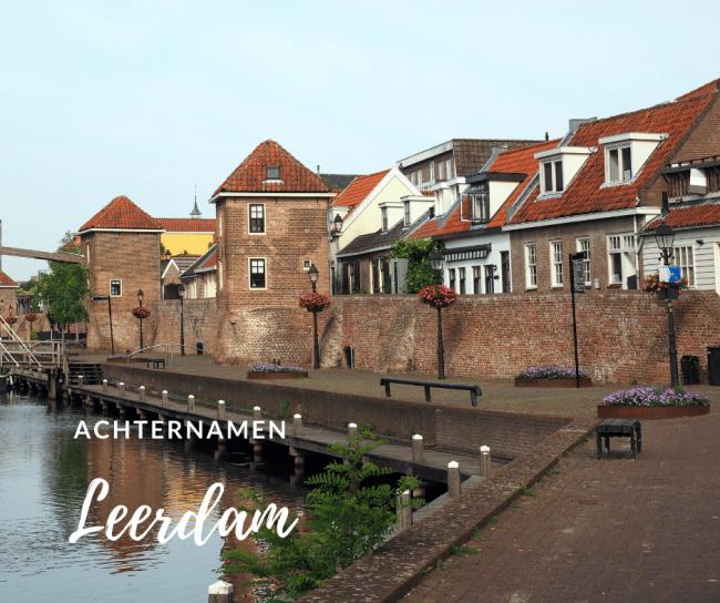 Places.nl nam de achternamen van de inwoners van Leerdam onder de loep.