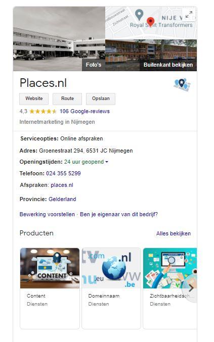 Verbeter je lokale vindbaarheid   Places.nl