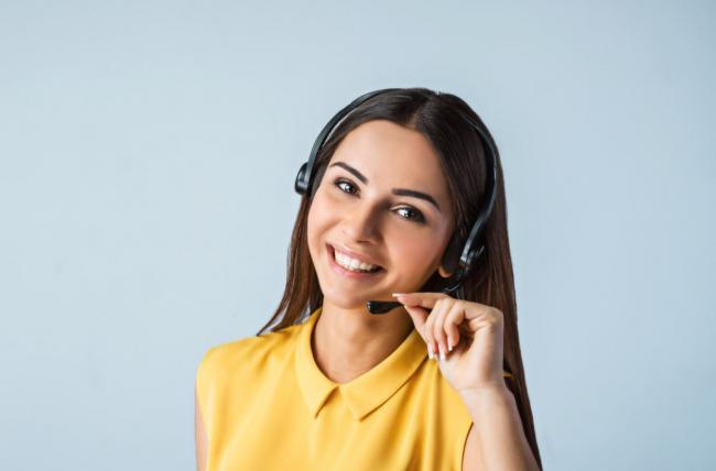 Bellende vrouw callcenter