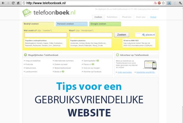 Tips om uw website gebruiksvriendelijker te maken
