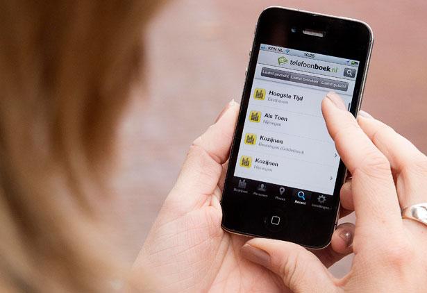 Mobiele website Telefoonboek vernieuwd