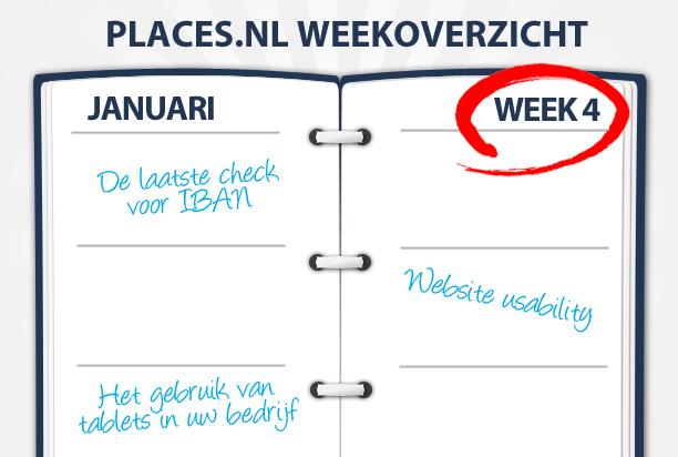 Week 4: Website usability, tablets binnen uw bedrijf en de laatste IBAN check