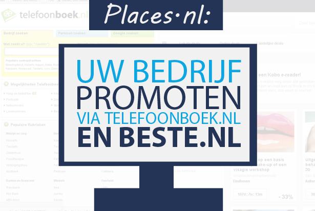 Promoot uw bedrijf via Telefoonboek.nl en Beste.nl
