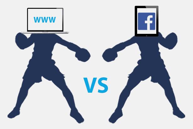Is Facebook een vervanger van uw website?