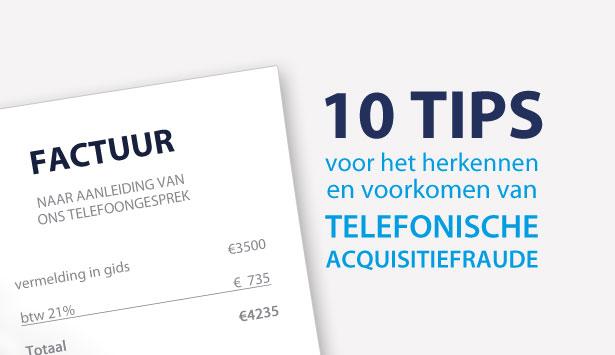 Telefonische Acquisitiefraude: zo herkent u het