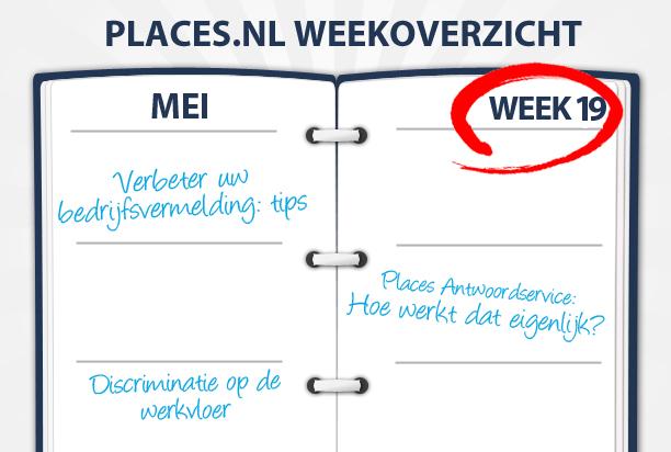 Week 19: Tips voor uw bedrijfsvermelding en discriminatie binnen uw bedrijf