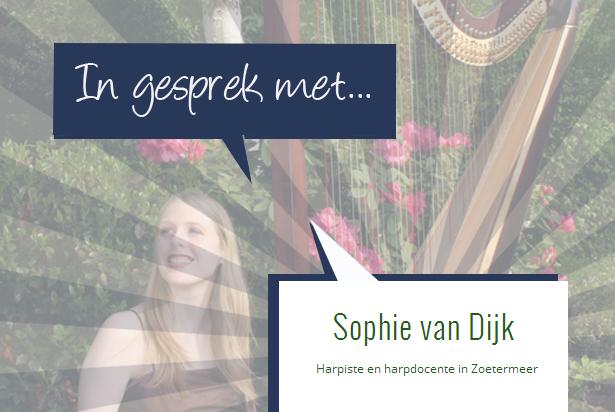 In gesprek met Harpiste Sophie van Dijk