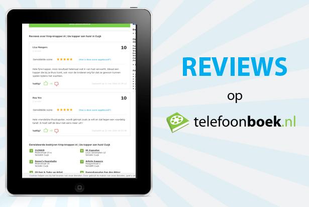 Reviews op Telefoonboek: geef het door!