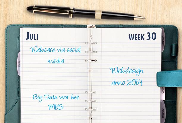 Week 30: webdesign trends, Big Data en een vergelijking van antwoordservices