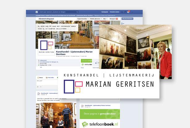 Facebookpagina en nieuw logo voor Marian Gerritsen