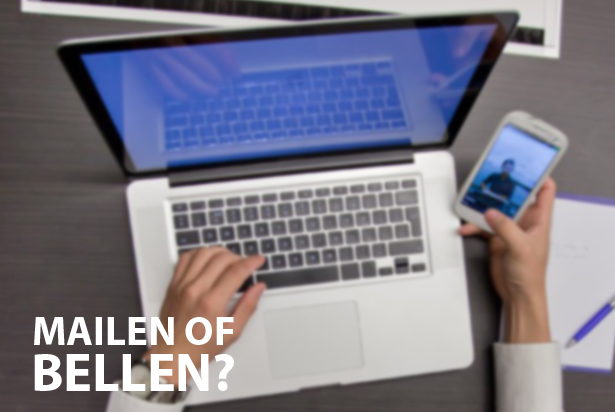 Bellen of mailen met computerbedrijven?
