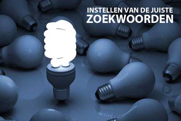 Het instellen van de juiste zoekwoorden op Telefoonboek.nl