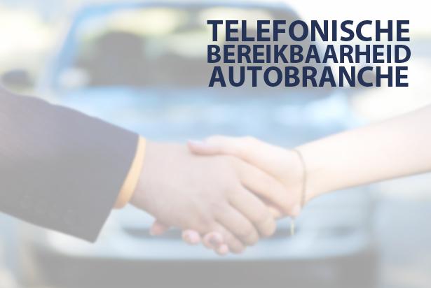 Autobranche laat de telefoon vaak rinkelen