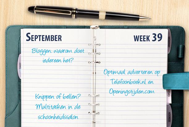 Week 39: telefonische bereikbaarheid van schoonheidssalons en optimaal adverteren