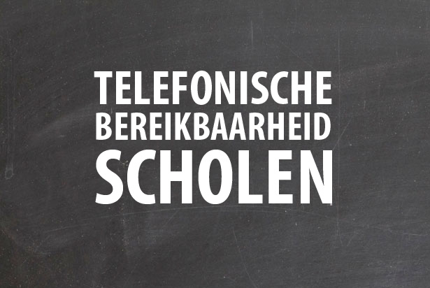 Lesgeven of bellen? De telefonische bereikbaarheid van scholen
