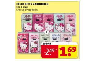 hello kitty zakdoeken 10 pak