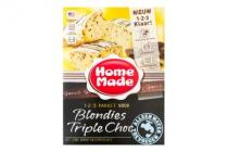 homemade 1 2 3 pakket blondies triple choc