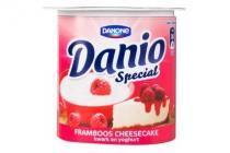 danone danio special frambooscheesecake