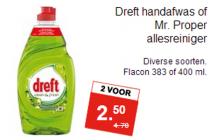 dreft handafwas of mr. proper allesreiniger