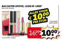 max factor lipstick   gloss of  liner