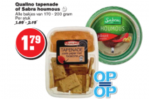 qualino tapenade of sabra houmous