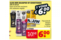gliss kur shampoo of conditioner