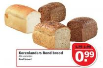 korenlanders rond brood